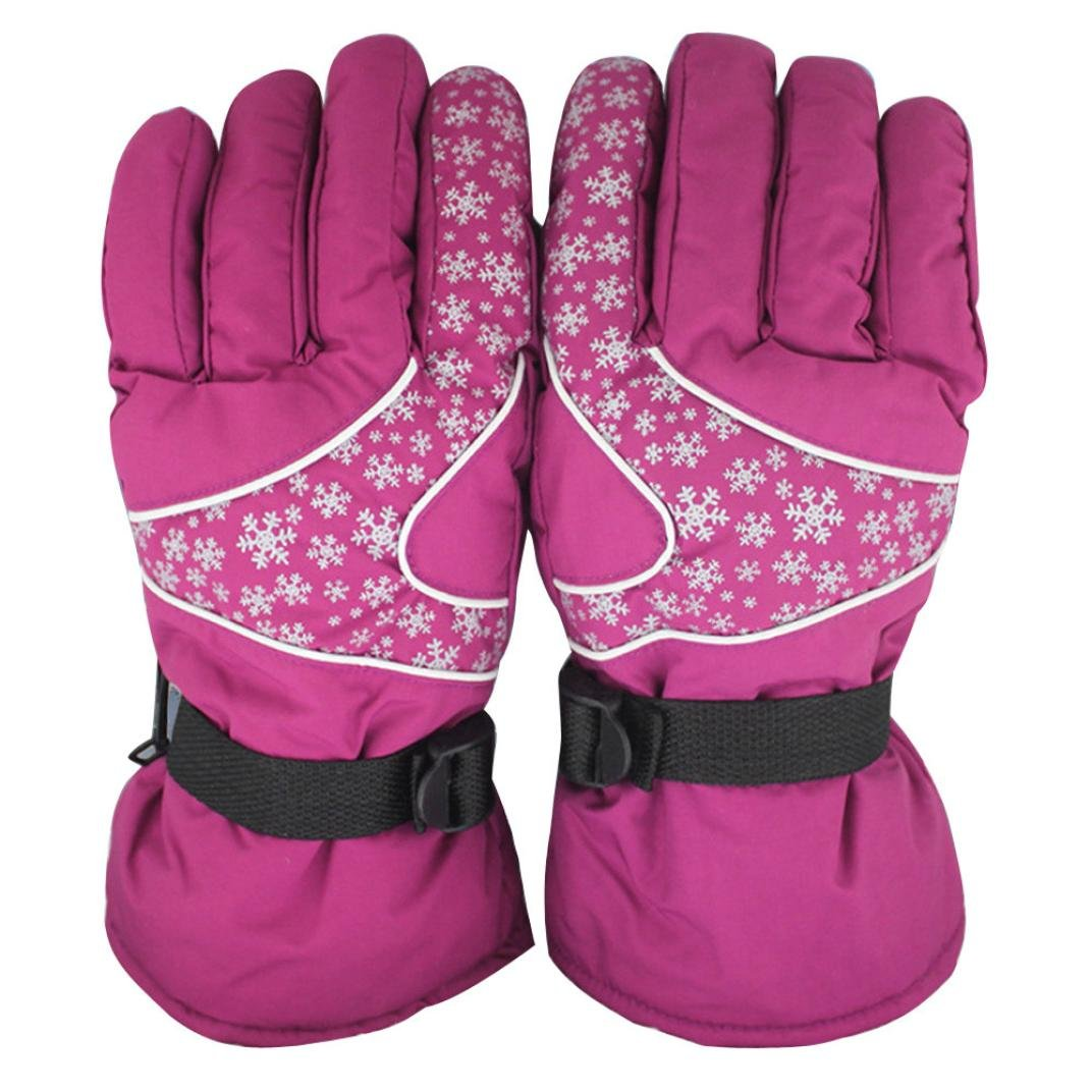 Ecurson Men Women -30℃ Winter Ski Gloves Waterproof Sports Gloves