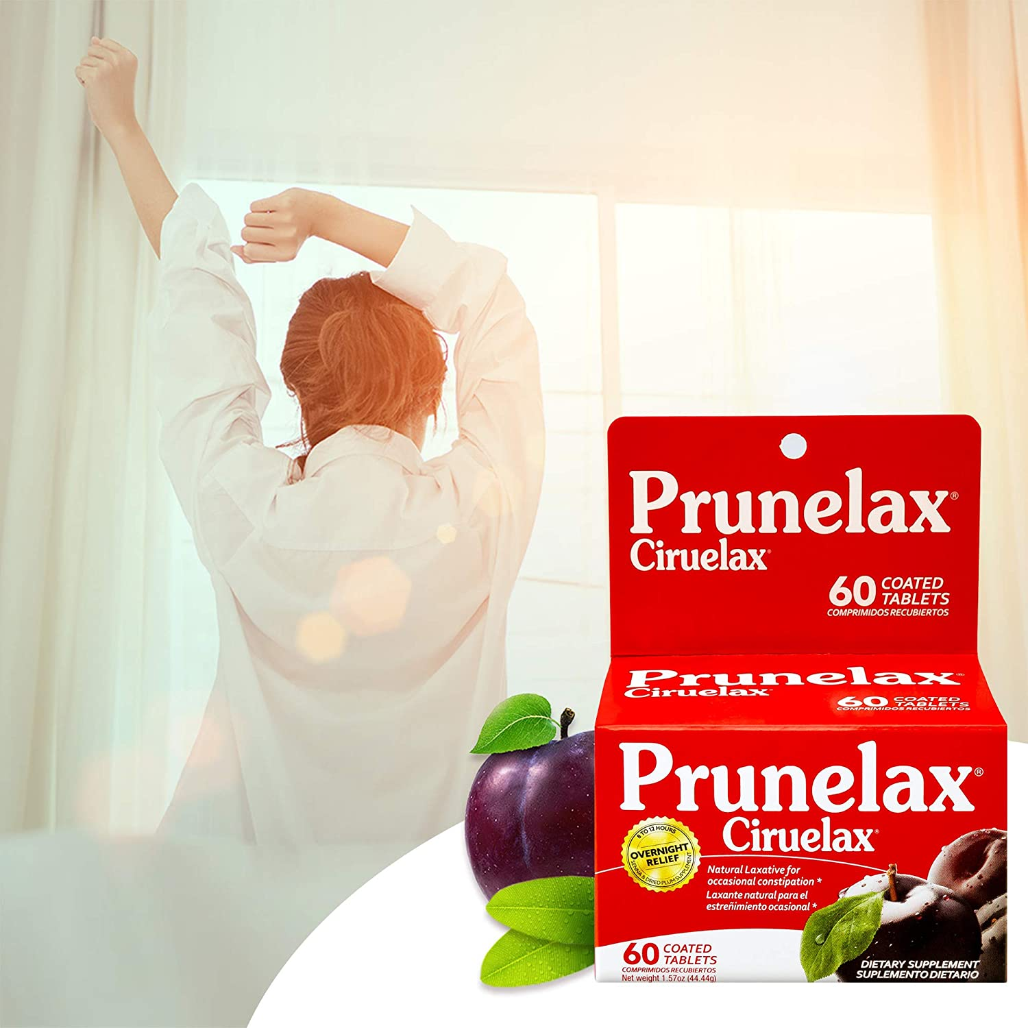 Amazon.com: Prunelax Ciruelax Natural Laxative Regular Tablets, 60 Count: Health & Personal Care