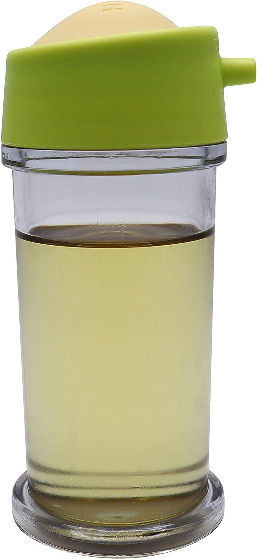 EIKS Oil Bottle Olive Oil Dispenser Drip-Free for BBQ, Salad, Kitchen Baking, Roasting, Frying (Green)