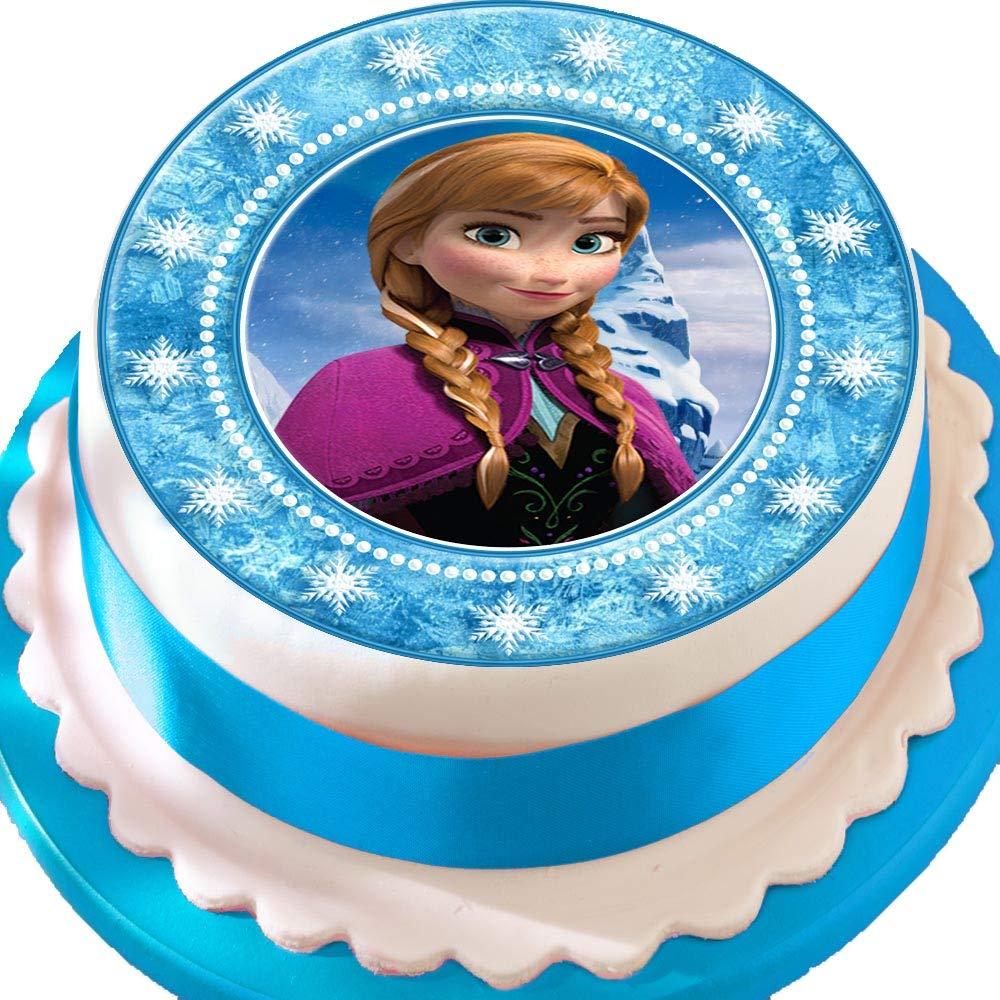 Frozen Anna Star frontera Cumpleaños troquelada comestible ...