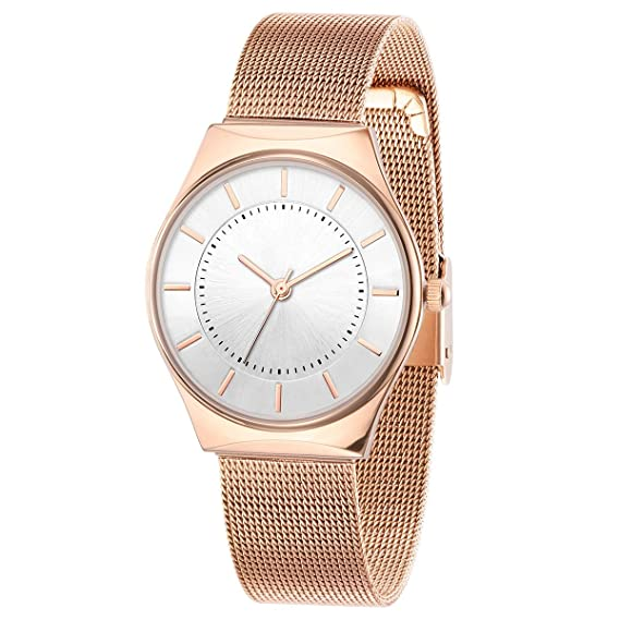 Reloj de mujer impermeable moda mujer 2018 Nuevo de mediana edad moda mujer mamá rosa oro