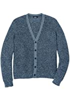 Kingsize Men's Big & Tall Shaker Knit V-Neck Cardigan Sweater