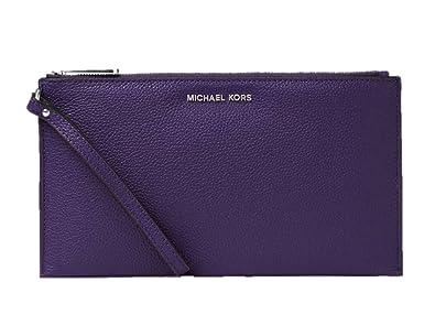 610f8d610 Michael Kors Women's Large Mercer Zip Clutch Leather Wristlet ...