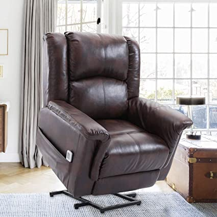 Magnificent Amazon Com Banfang Power Lift Recliner Chair Pu Leather Ncnpc Chair Design For Home Ncnpcorg