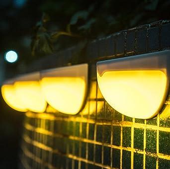 4 * LED Solar Lámpara Solar Jardín Lámpara ahorra energía solar ...