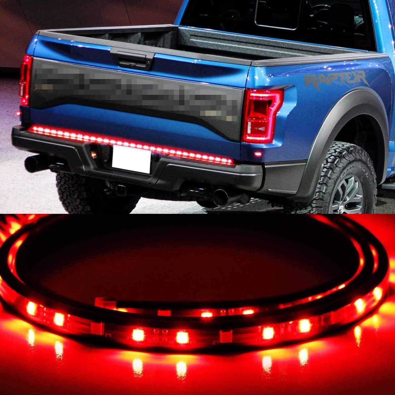 Everbuilt 60 LED Strip Tailgate Light Bar Reverse Brake Signal Combo Compatible for Chevy Ford Dodge Ram Toyota Nissan Pickup Trucks DRL Day time Ruining Light Bed Liner led