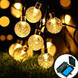 Amazon Price History for:easyDecor [18650 Rechargeable Battery Included] Globe Battery Operated String Lights 30 LED Automatic Timer 8 Mode Crystal Ball Christmas Lights for Xmas Garden Outdoor Holiday Decoration (WarmWhite)