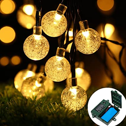 easydecor 18650 rechargeable battery included globe battery operated string lights 30 led automatic timer