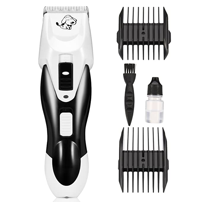 Dog Grooming Clipper Itery Pet Grooming Kit Professional Dog Cat Clipper Electric Shaver for Hair Cut Rechargeable Cordless Clipper Quick Charge Long Standby Dog Cat Hair Trimmer Razor Blade Low Noise