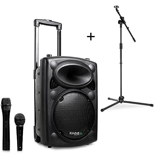 59 opinioni per Ibiza Port8VHF-BT Sistema Audio PA Portatile Con Subwoofer E Bluetooth + Asta