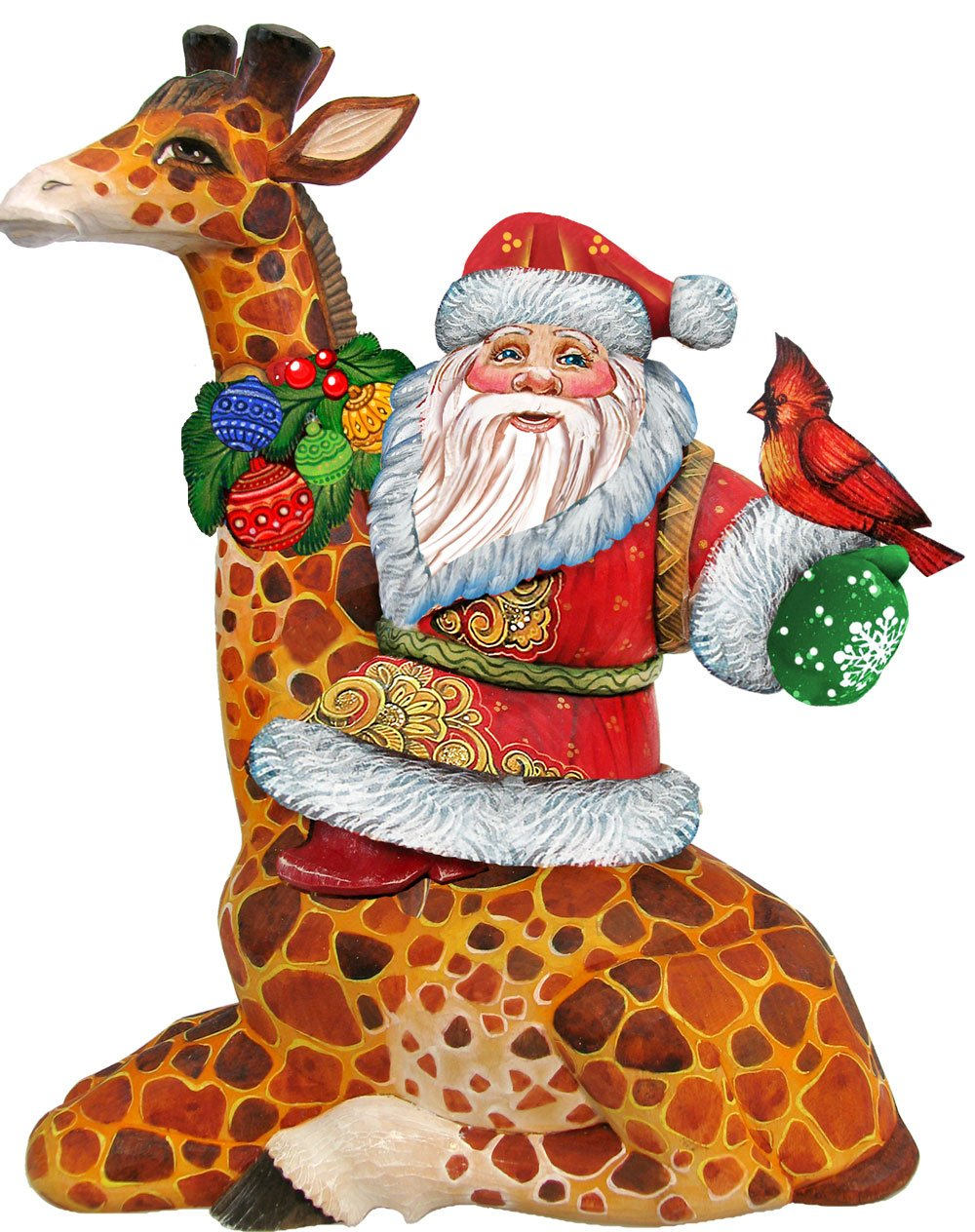 G. Debrekht Santa On Giraffe Deco Ornament
