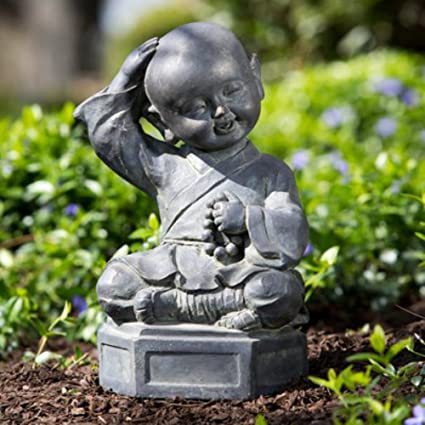 Amazon.com : Alfresco Home Dreaming Buddha Garden Statue : Outdoor ...