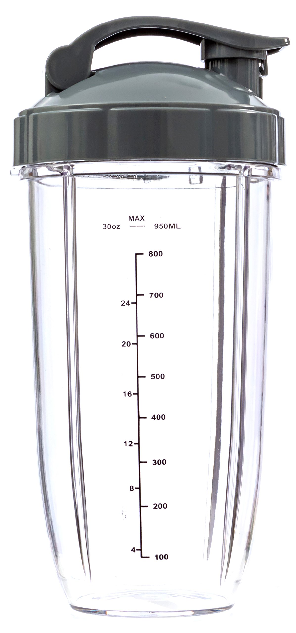 Extra Large Nutribullet Replacement Cup 32 Oz Tall with Flip Top to Go