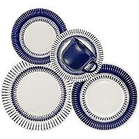 Aparelho de Jantar Chá 30 Peças Biona Colb Branco/Azul
