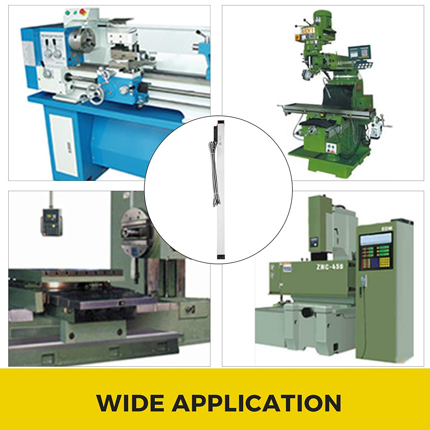 FlowerW Digital Linear Scales Travel Length 650MM Axis DRO Digital Readout Linear Scale for Lathes Grinders Milling Machines