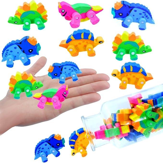 Party Radierer 3D ┃ Jurassic Radierer 6 x Dino German Trendseller®