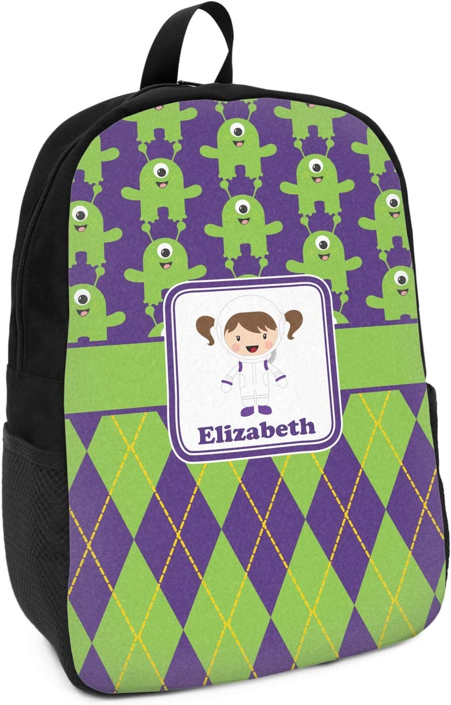 Astronaut Aliens /& Argyle Kids Backpack Personalized