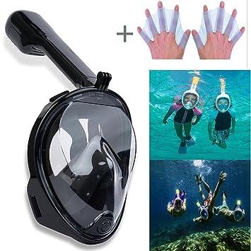 Mascara Buceo Gafas Snorkel,180 Grados de Vision Diseño de Cara Completa Buceo Gafas Snorkel