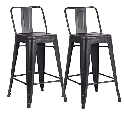 Amazoncom Ac Pacific Modern Industrial Metal Barstool With Bucket