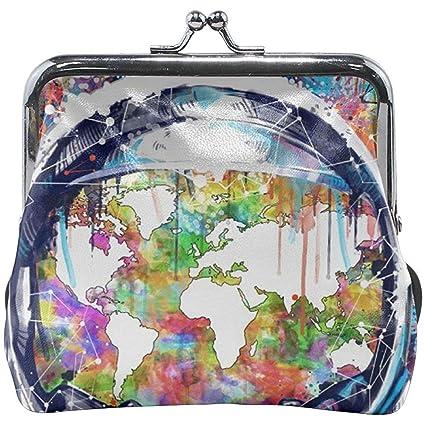 Astronauta Mapa del Mundo Colorido Hebilla Exquisita ...