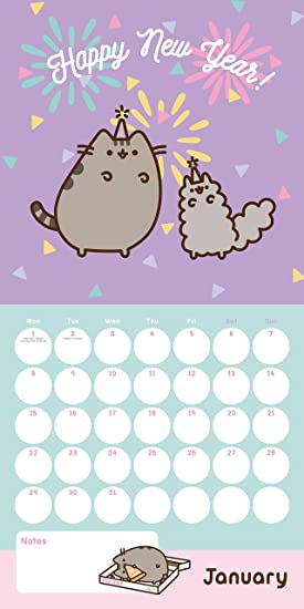 Pusheen Official 2018 Calendar - Square Wall Format Calendar ...