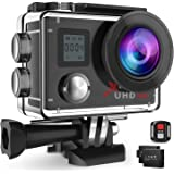Campark Action Camera 4K WiFi Ultra HD Sports Cam Underwater Waterproof 30M 170°Wide-Angle Lens with Remote Control 2 Recharge Batteries and Mounting Accessories Kit