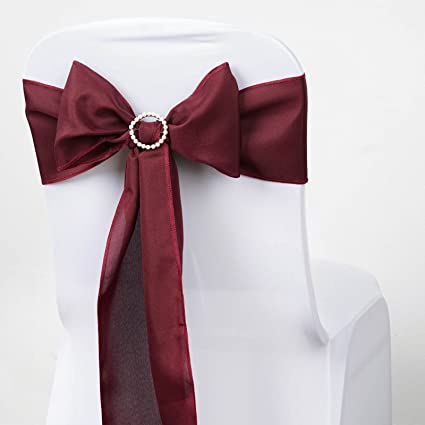 Amazon balsacircle 10 burgundy polyester chair sashes bows ties balsacircle 10 burgundy polyester chair sashes bows ties wedding party ceremony reception decorations cheap supplies junglespirit Gallery
