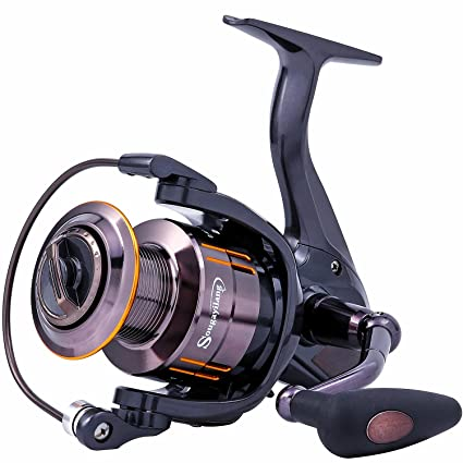 Sougayilang Spinning Fishing Reel - Ultra Smooth 13+1 Shielded Bearings, Light Weight Powerful Anti-Corrosion Alloy Construction Body,Non-Slip EVA Knob for Saltwater Freshwater Bass Fishing