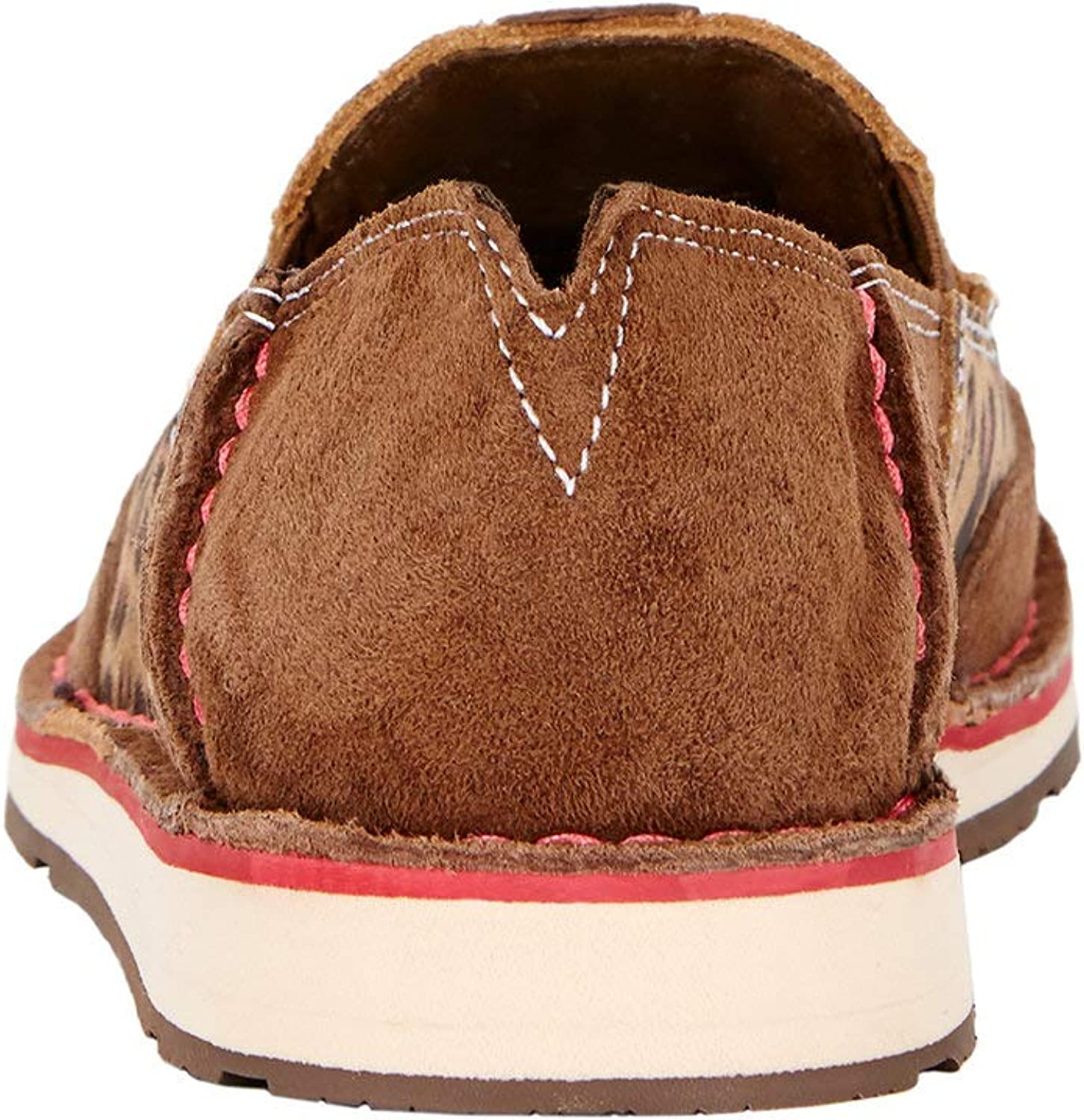 Ariat Women's Cruiser Slip-on Shoe Casual Antique Mocha Washed Suede