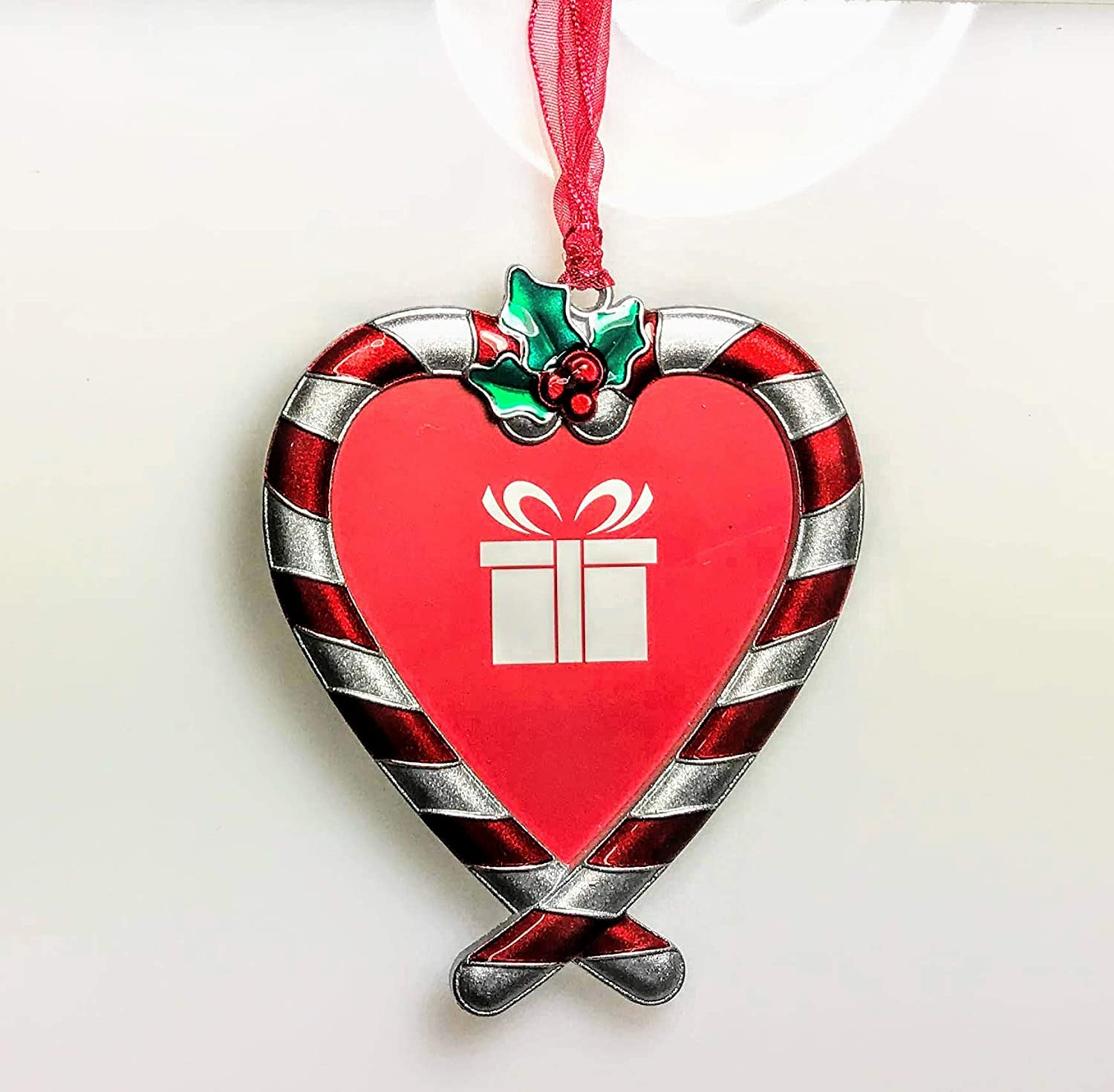 Candy Cane Heart Photo Frame Ornament