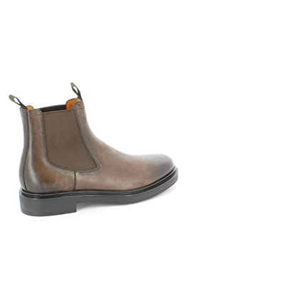 3ab1bbff320b12 Image Unavailable. Image not available for. Color  Santoni Men s  Mgwb10027nerigsmt50 Brown Leather Ankle Boots