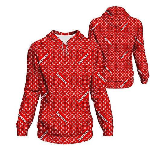 2ebf87445b36c Amazon.com: Unisex Supreme Louis Vuitton Hoodie: Handmade