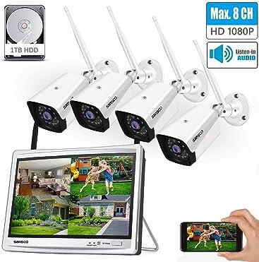 8CH Expandable SANSCO 1080P Wireless CCTV Camera System ...