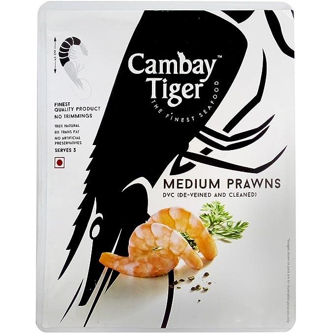 Cambay Tiger Prawns - Medium, 600g Pack: Amazon in: Grocery