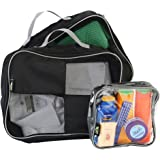 Packing Cubes/Organisers For Easy Packing And Toiletry Bag Hand Luggage Approved Solution (Black)
