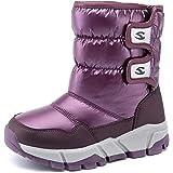 [ホビベアー] キッズブーツガールズ冬ブーツ雪ブーツコールドプルーフ防水キッズ靴