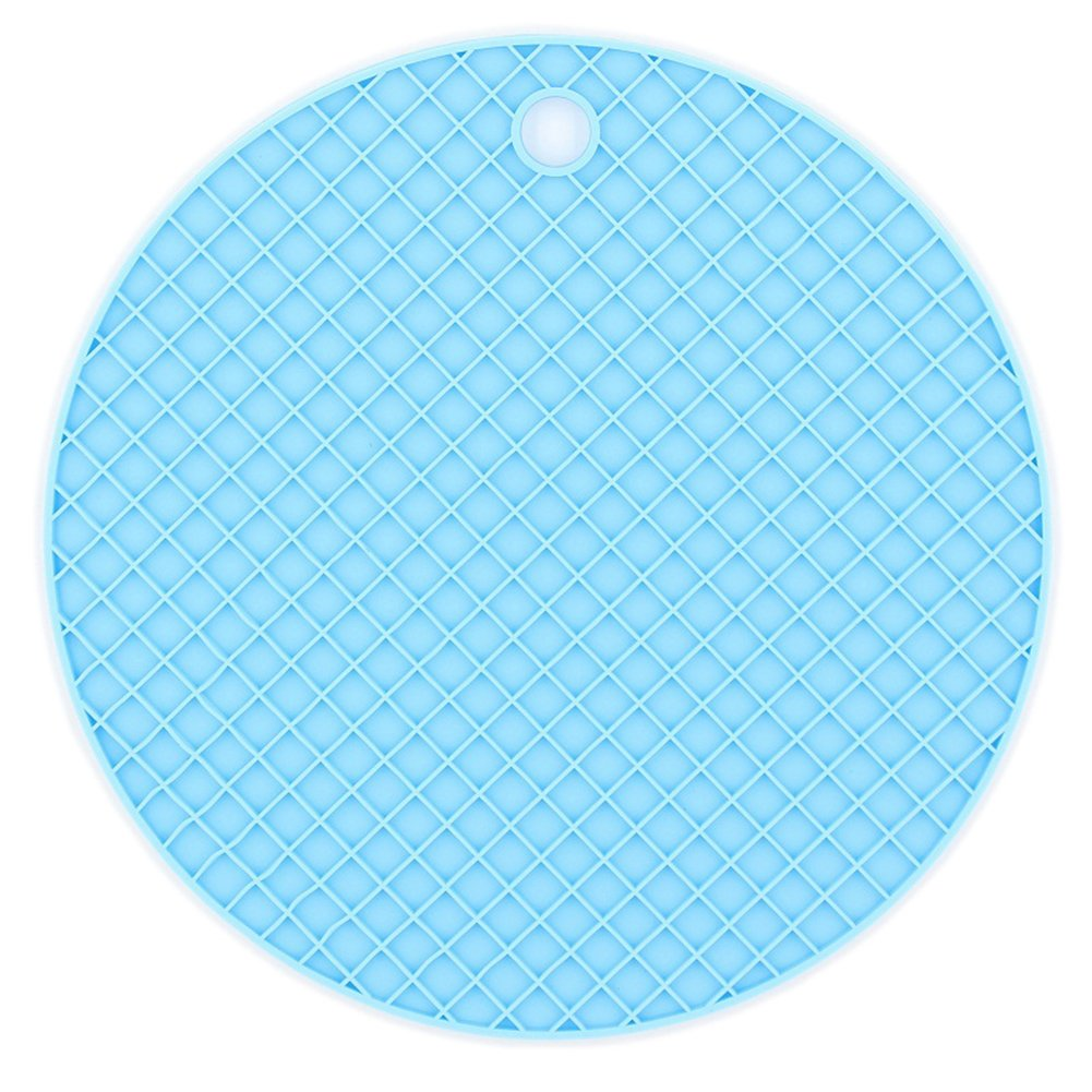Hosaire Silicone Pot Holders Coaster Trivet Mat Flexible Jar Opener Heat Resistant Pads Non Slip Flexible Durable Dishwasher Safe Silicone Kitchen Tool Blue