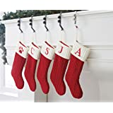 letter z embroidered monogram christmas stocking knit 21