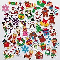 Baker Ross AX396 Kerst Schuim Stickers - Pak Van 200, Kinderstickers, Ideaal Voor Kerstknutsels En Kunstprojecten…