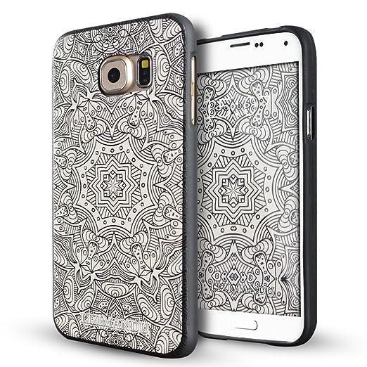 11 opinioni per Galaxy S6 Edge Cover,Lizimandu Creative 3D Schema UltraSlim TPU Copertura Della