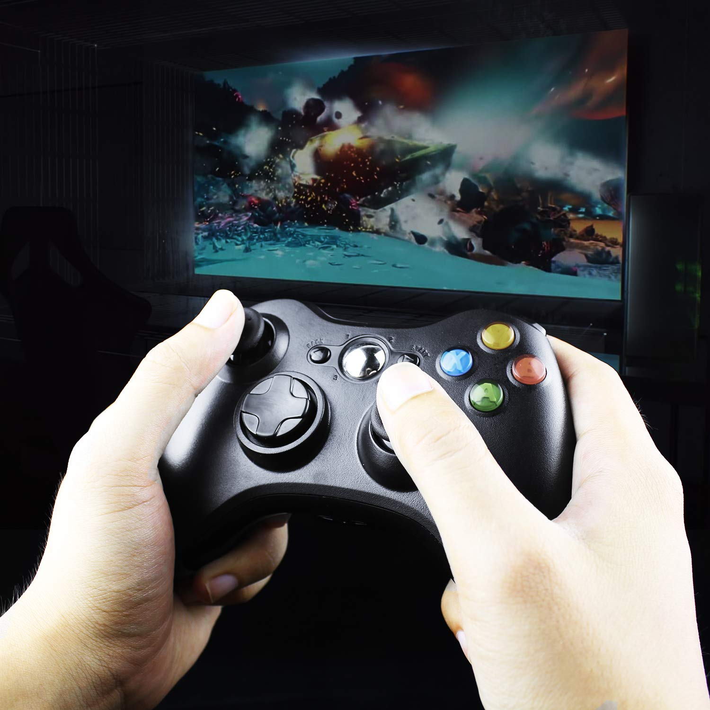 JAMSWALL Game Controlador 360 Gamepad USB con cable Joystick Controller para Microsoft Xbox y Slim 360 PC Windows 7
