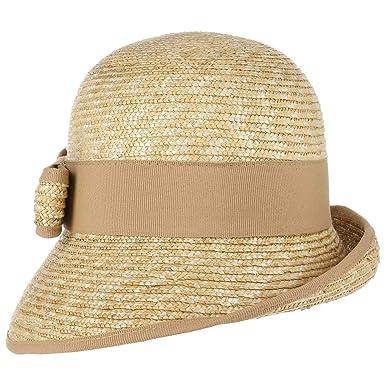 99dbc949930e75 Lierys Jelea Strohglocke mit Schleife Damenhut Glockenhut Strohhut  Sommerhut Sonnenhut Hut für Damen Ripsband Sommer (