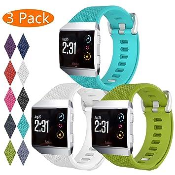 KingAcc Correa para Fitbit Ionic, Silicona Suave Pulsera de Respueto con Hebilla de Metal Compatible con Fitbit Fitbit Ionic smartwatch