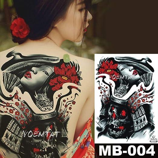 tzxdbh 48 * 35 cm Grandes Pegatinas de Tatuaje Geisha Japonesa ...
