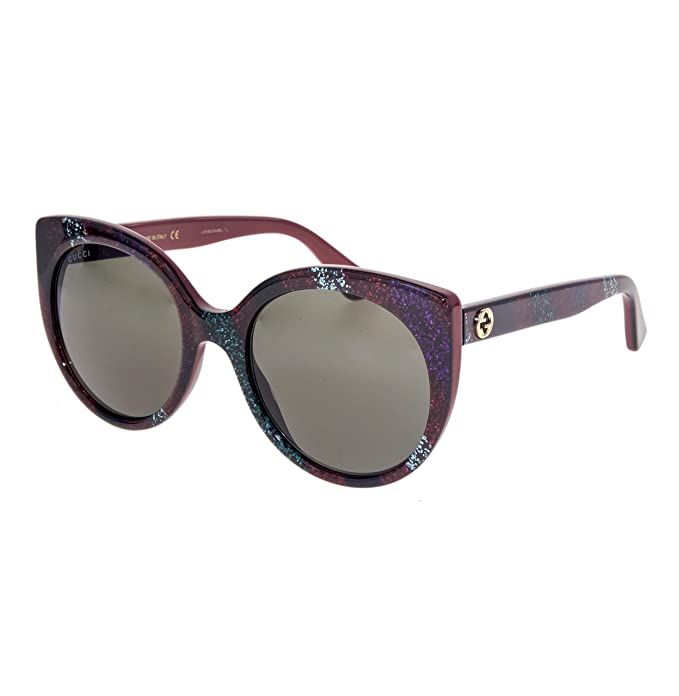 Gucci GG0325S-005 Gafas de sol, Rojo/Multicolor, 55 para ...