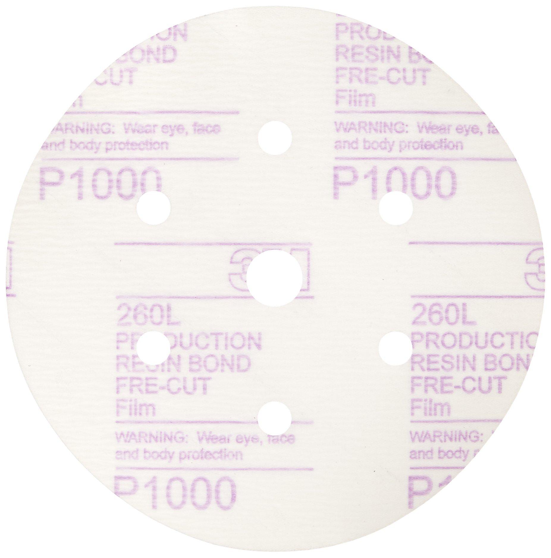 3M 01069 Hookit 6'' P1000 Grit Dust-Free Finishing Film Disc