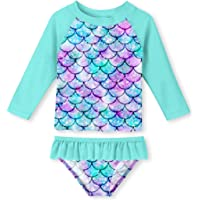 Two Piece Rash Guard Set 110 Pink LOSORN ZPY Toddler Baby Girl Long Sleeve UPF 50