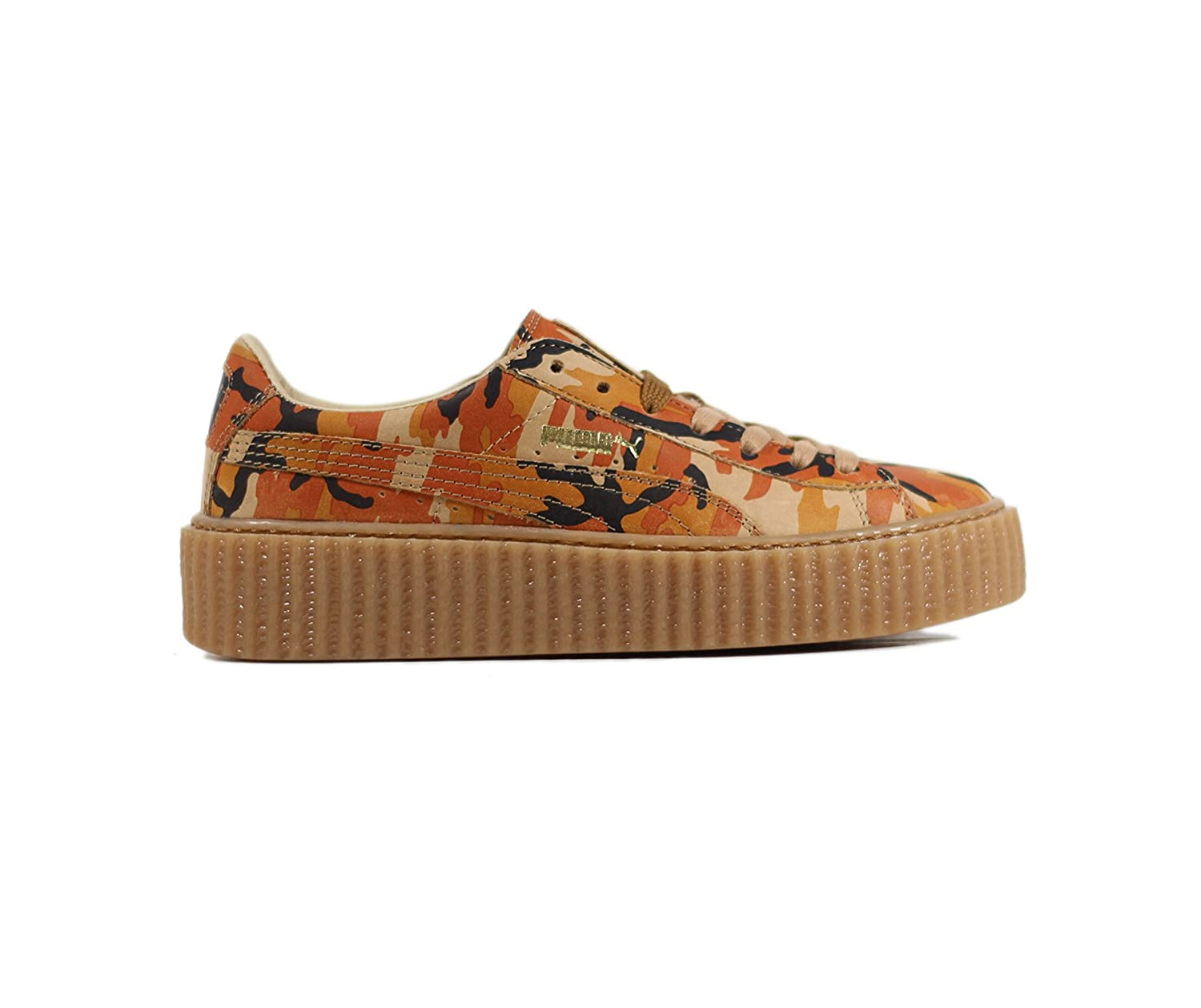 the best attitude 14c12 00a90 Puma Womens Suede Creepers Size 8.5 CAMO Rihanna Orange ...
