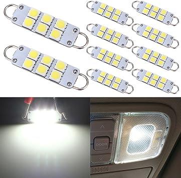 10Pcs T10 W5W Blanco COB LED Bombilla Coche Coche Camión Ancho Licencia Placa De Iluminación Luz