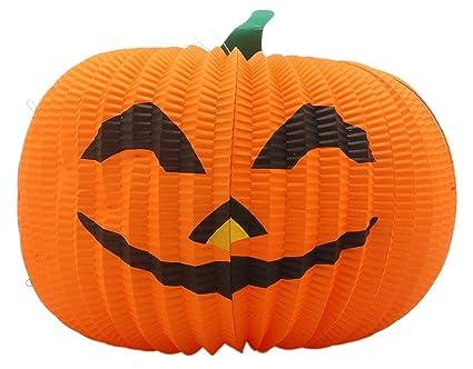 Eozy 1pcs Farol Calabaza De Papel Herramienta De Cosplay Halloween - Calabaza-de-papel